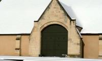 Porte de la Grange - Baronnie sous la neige