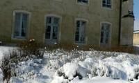 Manoir vue de face - Baronnie sous la neige