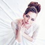Mariée en robe blanche