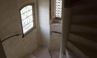 Vue plongeante escalier du Manoir - Domaine de la Baronnie