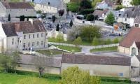 Vue aérienne côté champs - Domaine de la Baronnie