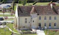 Vue aérienne Manoir - Domaine de la Baronnie