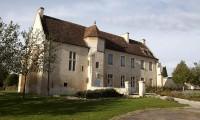 Vue Manoir et jardin des simples - Domaine de la Baronnie
