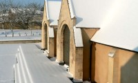 Entrée de la Grange - Baronnie sous la neige